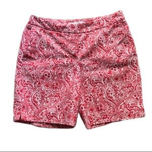 """Boden Richmond Shorts Red & White  6"""" Resort Sz 4"""
